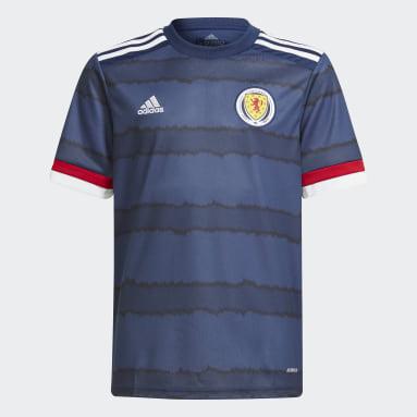 Børn Fodbold Blå Scotland 20/21 hjemmebanetrøje