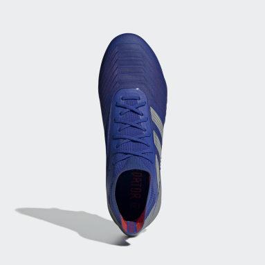 Calzado de Fútbol Predator 19.1 Soft Ground Azul Hombre Fútbol