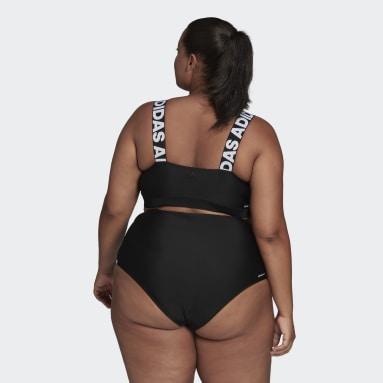 Dames Zwemmen zwart SH3.RO Branded Bikinitopje (Grote Maat)