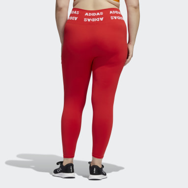 Women HIIT Red Training Aeroknit 7/8 High-Rise Tights (Plus Size)