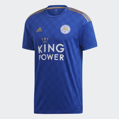 Men Football Blue Leicester City FC Home Jersey