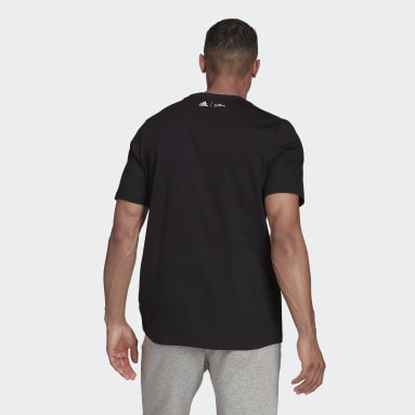 Men's sport_inspired Black adidas x The Simpsons Snowball Fight Graphic Tee