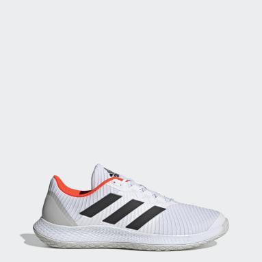 Table Tennis White ForceBounce Handball Shoes