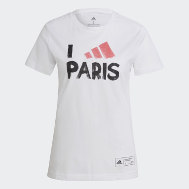 Frauen Sportswear Paris T-Shirt Weiß