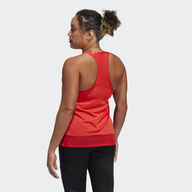 Women's Volleyball Red Training HEAT.RDY Mesh Tank Top
