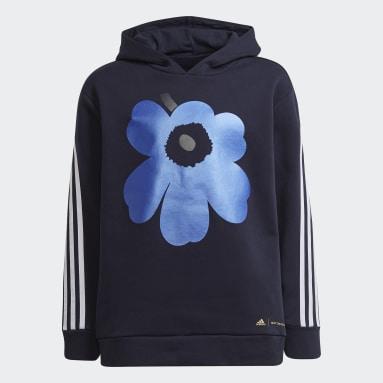 Mädchen Fitness & Training Marimekko Primegreen 3-Streifen Hoodie Blau