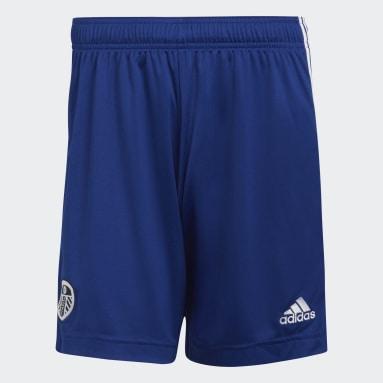 Fußball Leeds United FC 21/22 Auswärtsshorts Blau