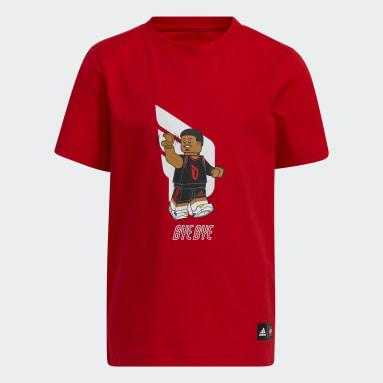 Children Basketball Red adidas x LEGO® Tee Damian Lillard