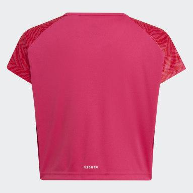Camiseta Designed 2 Move Seasonal Rosa Niña Gimnasio Y Entrenamiento