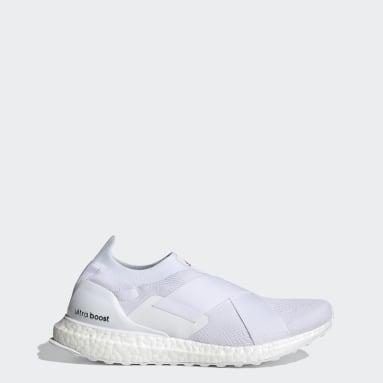 Women Running White Ultraboost Slip-On DNA Shoes
