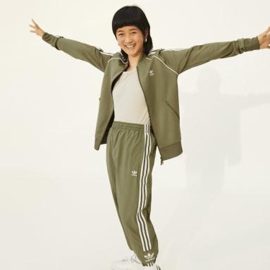 Track jacket Primeblue SST Verde Donna Originals