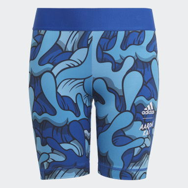Youth 8-16 Years Gym & Training Blue Aaron Kai Short Tights