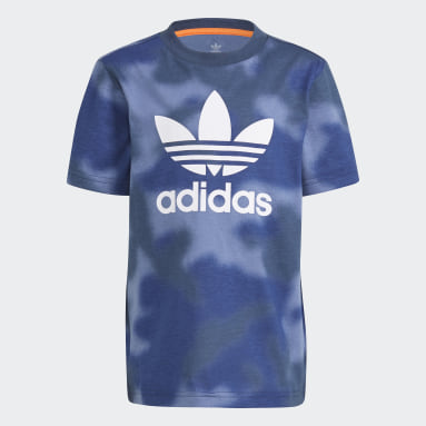 Çocuklar Originals Mavi Allover Print Camo Tişört