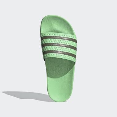 Claquette adidas Adilette Vert Femmes Originals