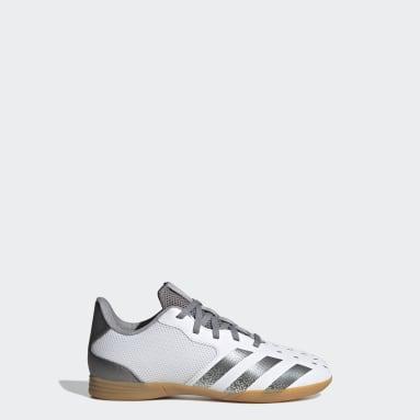 Boys Football White Predator Freak.4 Sala Indoor Boots