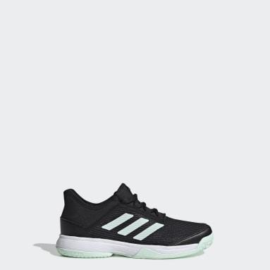 Kids Tennis Black Adizero Club Shoes
