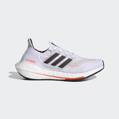 Ultraboost 21 Primeblue Boost Running Shoes Bialy