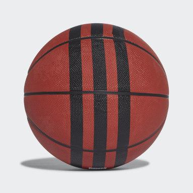 Men Basketball Orange 3-Stripes Basketball