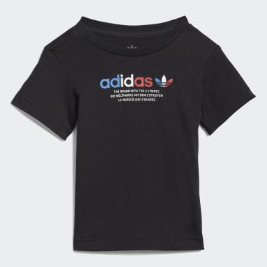 Infants Originals Black Adicolor Shorts and Tee Set