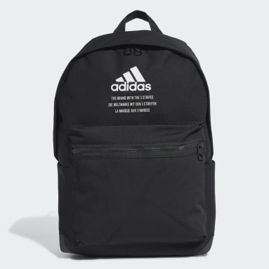Winter Sports Black Classic Twill Fabric Backpack