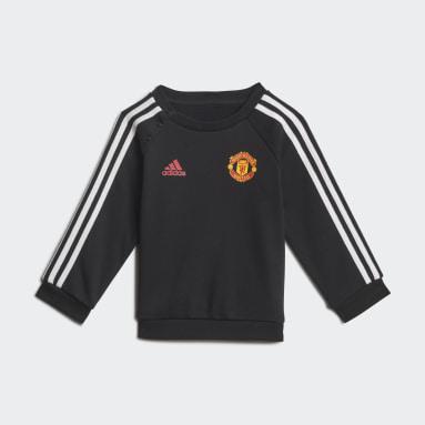 Kids Football Black Manchester United 3-Stripes Baby Jogger Set