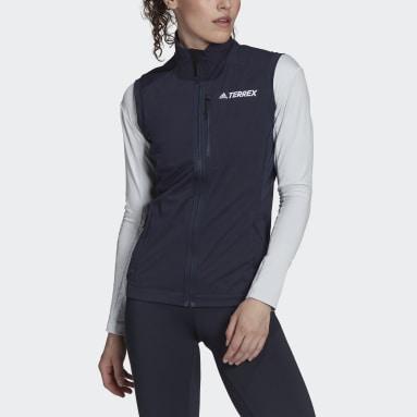 Colete de Esqui de Fundo Xperior TERREX Azul Mulher TERREX