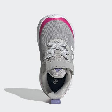 Kids Running Grey FortaRun Elastic Lace Top Strap Running Shoes