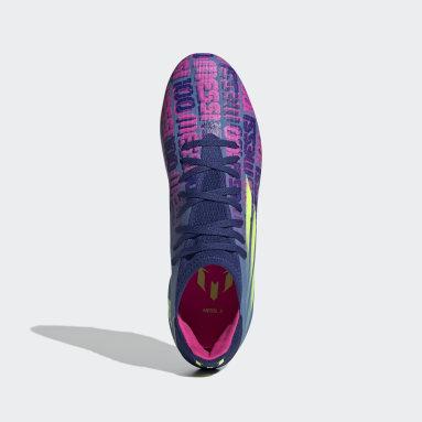 Football Blue X Speedflow Messi.3 Firm Ground Boots