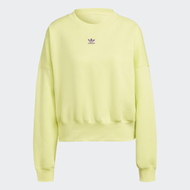 Sweatshirt em Fleece Adicolor Essentials Amarelo Mulher Originals