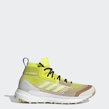 Men's TERREX Beige Terrex Free Hiker Primeblue Hiking Shoes