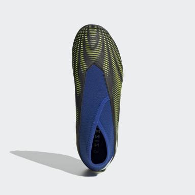 Kids Football Black Nemeziz.3 Laceless Turf Boots