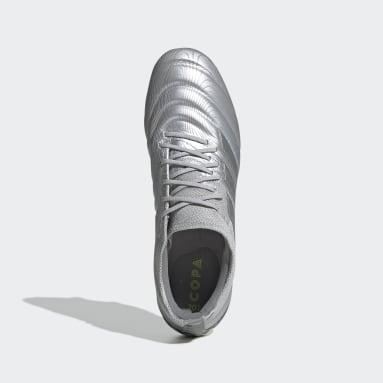 Calzado de Fútbol Copa 20.1 Terreno Suave Plata Hombre Fútbol