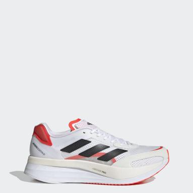 ผู้ชาย วิ่ง สีขาว รองเท้า Adizero Boston 10