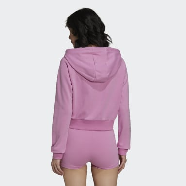 Dames Originals Paars adidas 2000 Luxe Cropped Sportjack