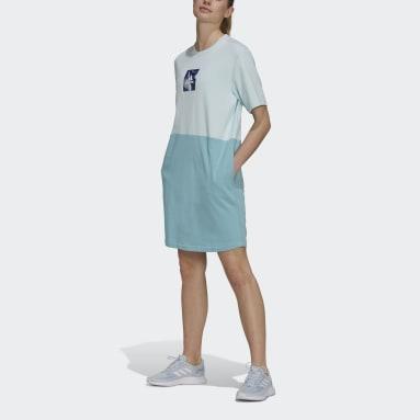 Women's sport_inspired Green adidas x Zoe Saldana Dress