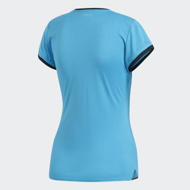 Women's Tennis Turquoise 3-Stripes Club Tee