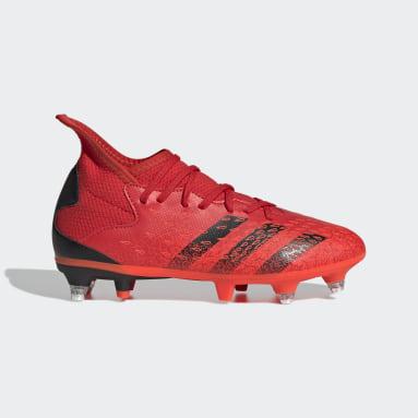 Kids Football Red Predator Freak.3 Soft Ground Boots