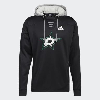 Men's Hockey Black Stars Skate Lace Hoodie