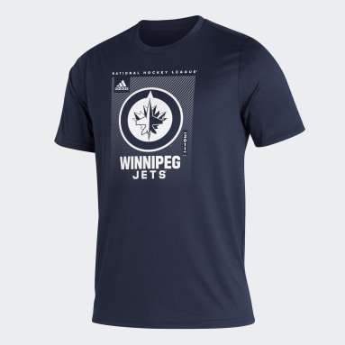 T-shirt Jets Creator Bleu Hommes Hockey