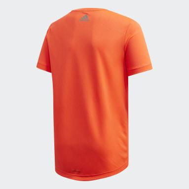 Boys Yoga Orange Own the Run T-Shirt