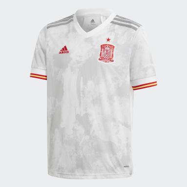 Conjunto segunda equipación España Blanco Niño Fútbol