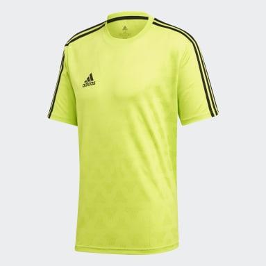 Heren Voetbal Geel TAN Jacquard Voetbalshirt