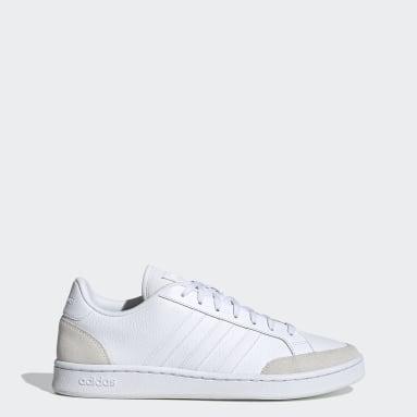 Essentials White Grand Court SE Shoes