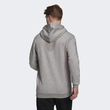 Essentials Fleece Camo-Print Hettegenser Grå