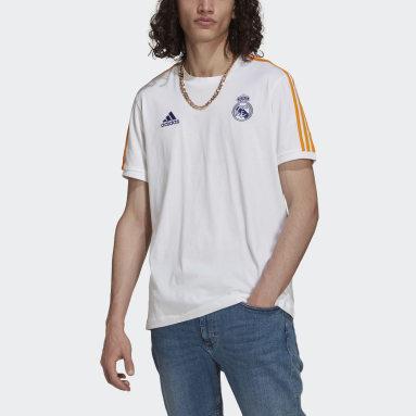 Men Football White Real Madrid 3-Stripes Tee