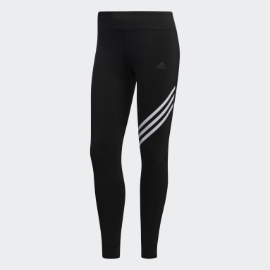 Women Running Black Run It 3-Stripes 7/8 Tights
