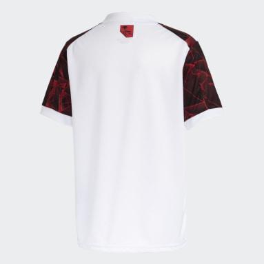 Camisa 2 CR Flamengo 21 Branco Meninos Futebol