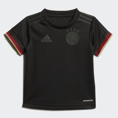 Toddlers 1-4 Years Football Black Germany Away Baby Kit