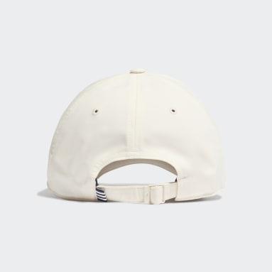 เทรนนิง สีขาว หมวกเบสบอลปักลายน้ำหนักเบา