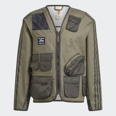 Herr Originals Grön FA Fishing Jacket
